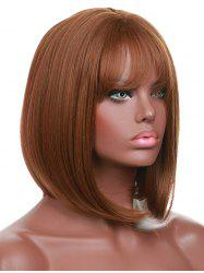 Short Full Bang Straight Bob Synthetic Wig -