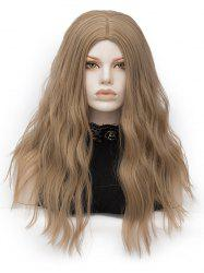 Long Middle Part Natural Wavy Party Synthetic Wig -