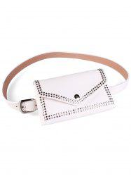 Rivet Funny Bag Faux Leather Belt Bag -