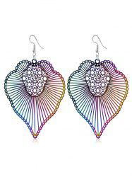 Bohemian Striped Pattern Hook Earrings -