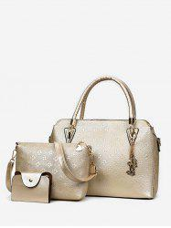 Loisirs Shopping Embossing 3 pièces Sac fourre-tout -
