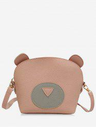 Chic Contrasting Color Critter Pattern Mini Crossbody Bag -