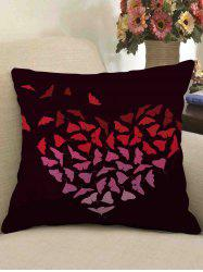 Butterfly Heart Print Decorative Linen Sofa Pillowcase -