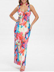 Multicolor Racerback Tank Dress -