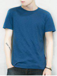 Short Sleeve Solid Color Casual T-shirt -