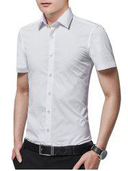Turn Down Collar Solid Color Business Shirt -