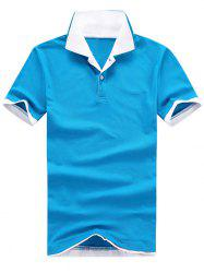 Two Tone Layered Polo Collar T-shirt -