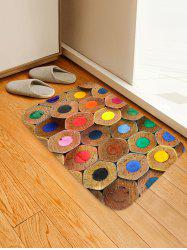 Colorful Pencil Lead Printed Skidproof Floor Mat -