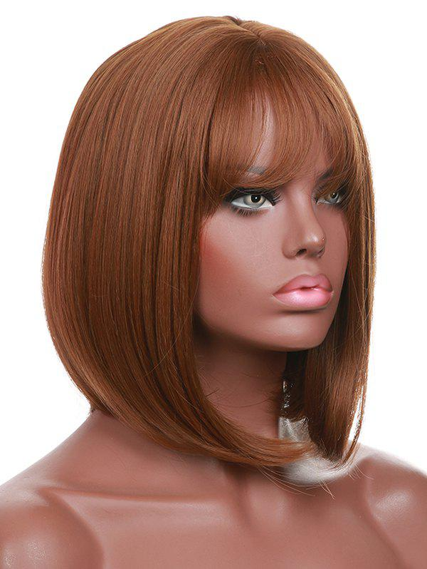 Chic Short Full Bang Straight Bob Synthetic Wig