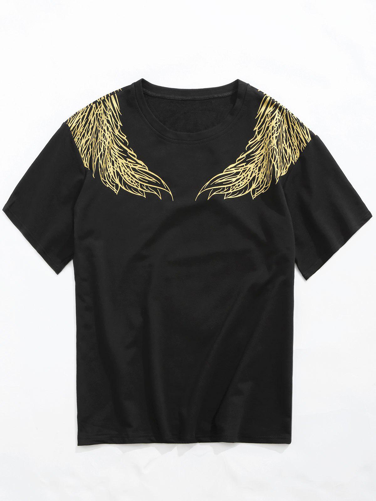 Shop Casual Phoenix Wing Print Round Neck Tee