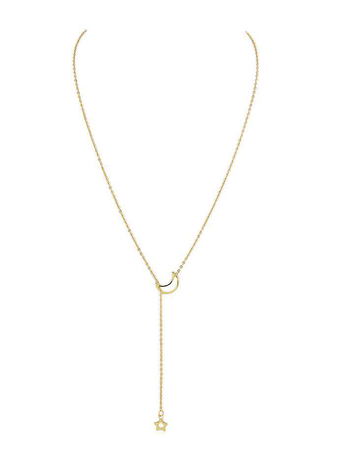 Shops Star Moon Decoration Chain Necklace