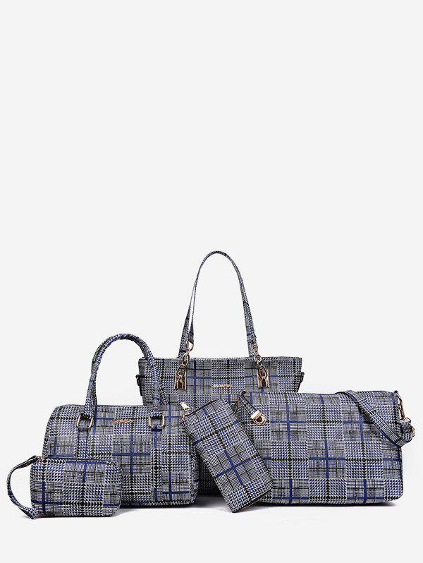 Shops 5 Pieces Plaid Large Capacity Shoulder Bag Set