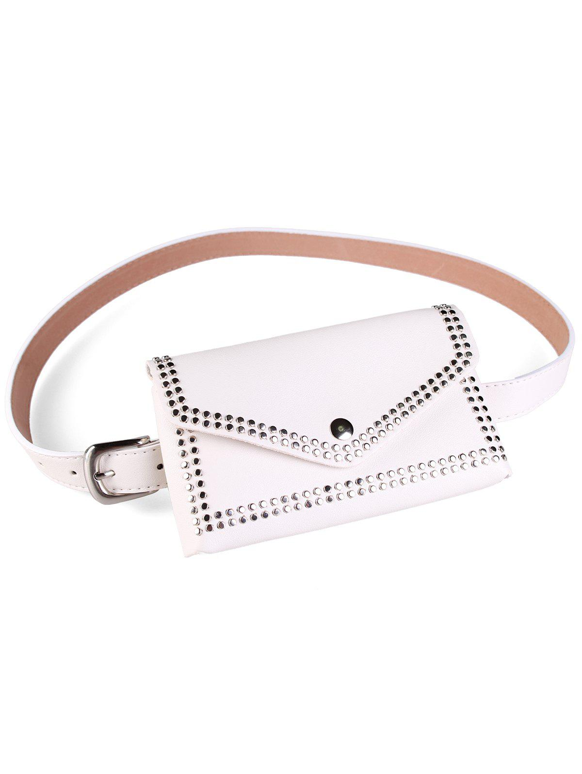 Chic Rivet Funny Bag Faux Leather Belt Bag