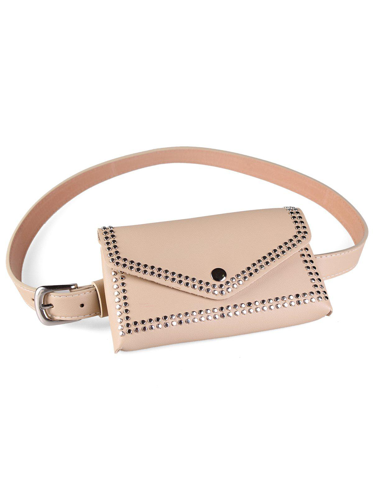 Latest Rivet Funny Bag Faux Leather Belt Bag