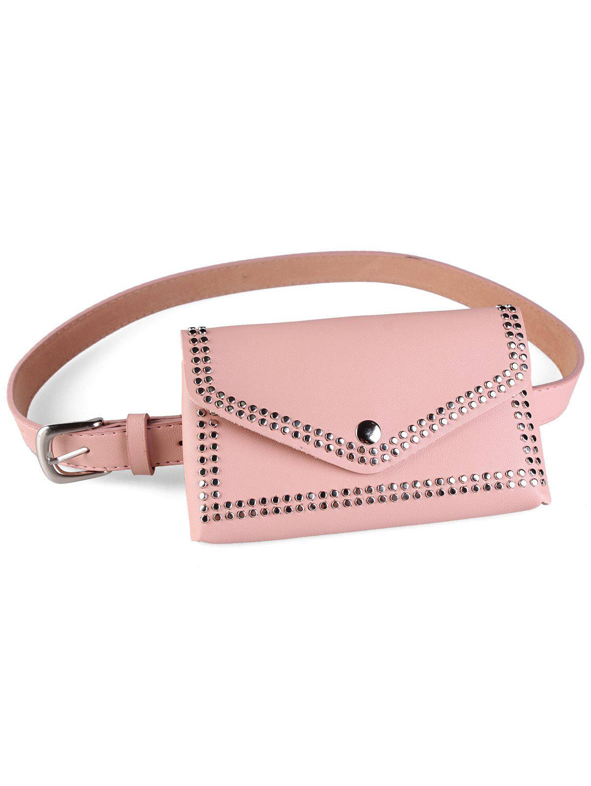 Fancy Rivet Funny Bag Faux Leather Belt Bag