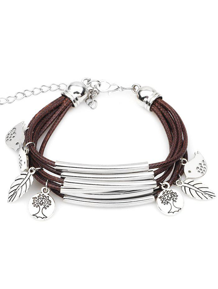 Fancy Cute Birds Plant Decorative Multilayer Bracelet