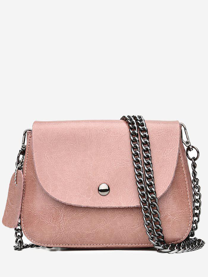 Affordable Retro Faux Leather Minimalist Chain Flapped Crossbody Bag