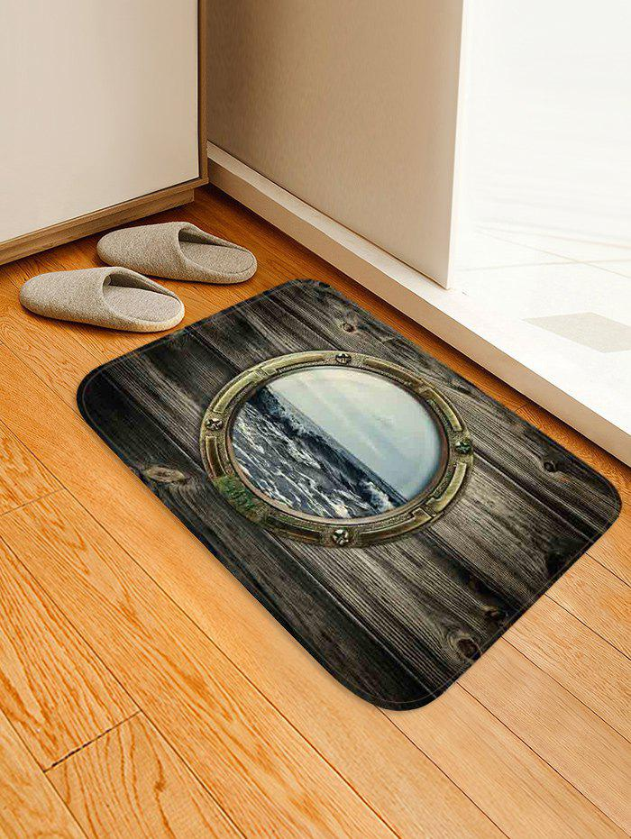Affordable Wood Grain Window Sea Surface Printed Area Mat