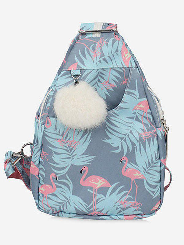 Discount Multi Function Flamingo Print Chest Bag