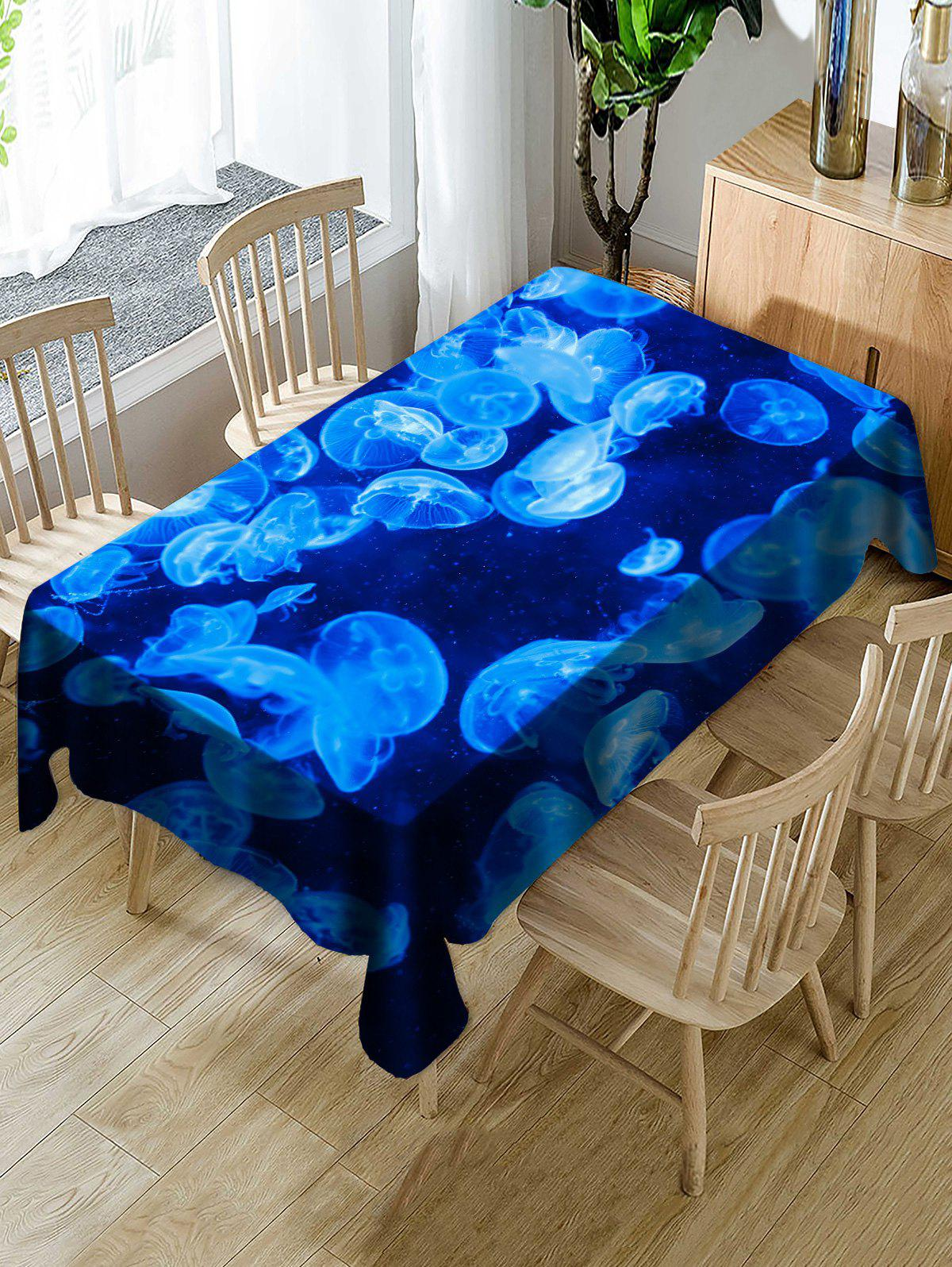 Online Jellyfish Pattern Decoration Table Cloth