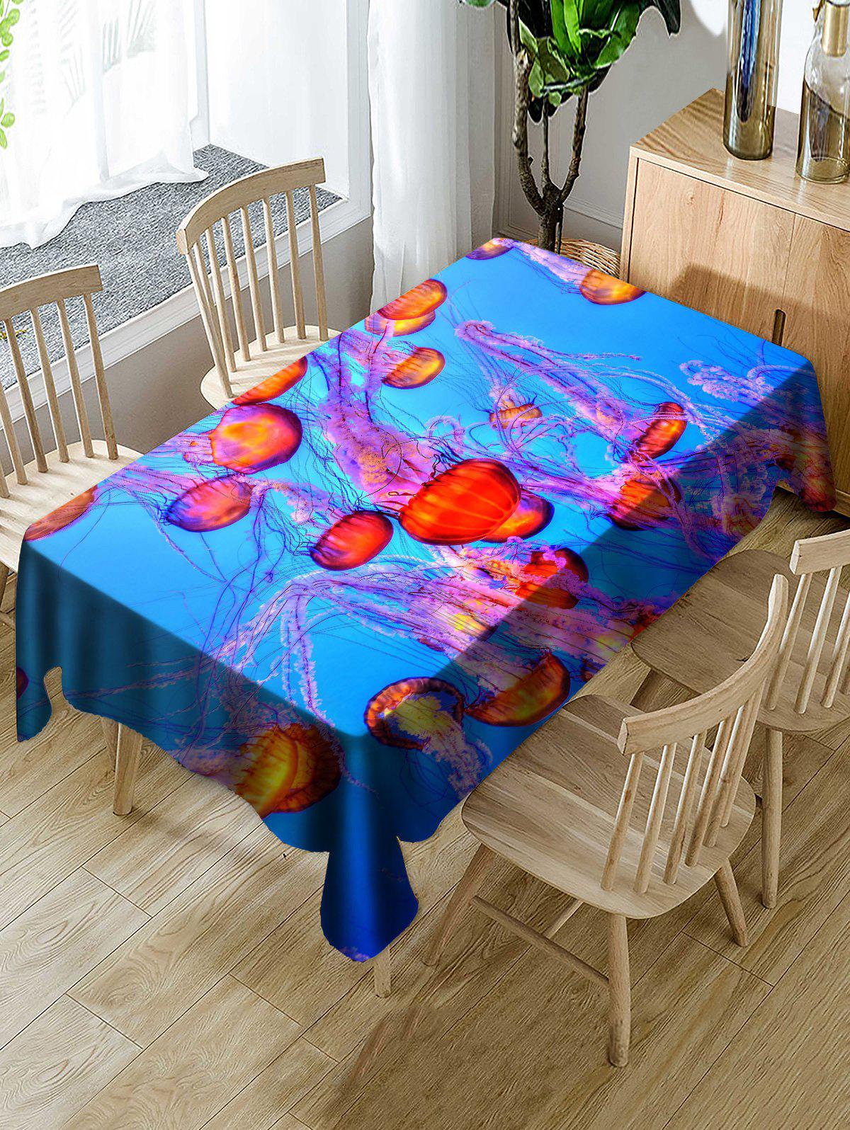 Trendy Jellyfish Pattern Table Cloth
