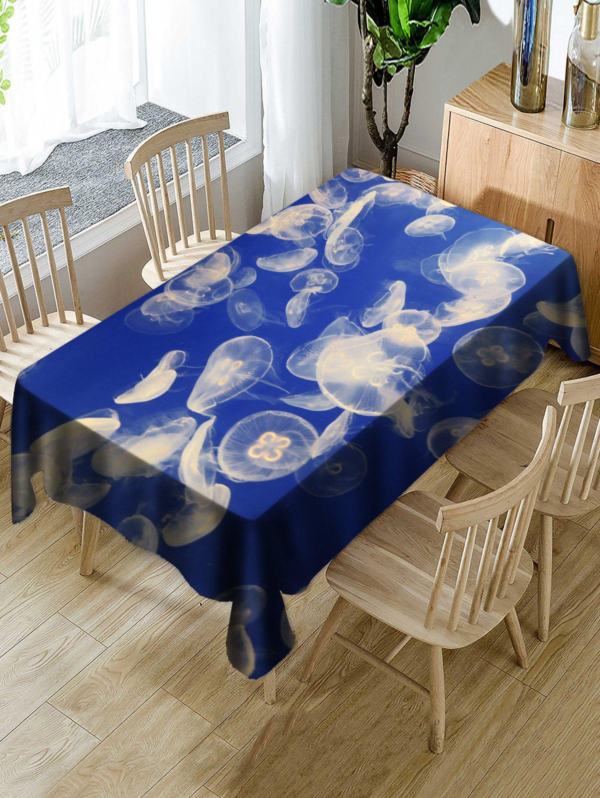 Cheap Jellyfish Printed Table Cloth