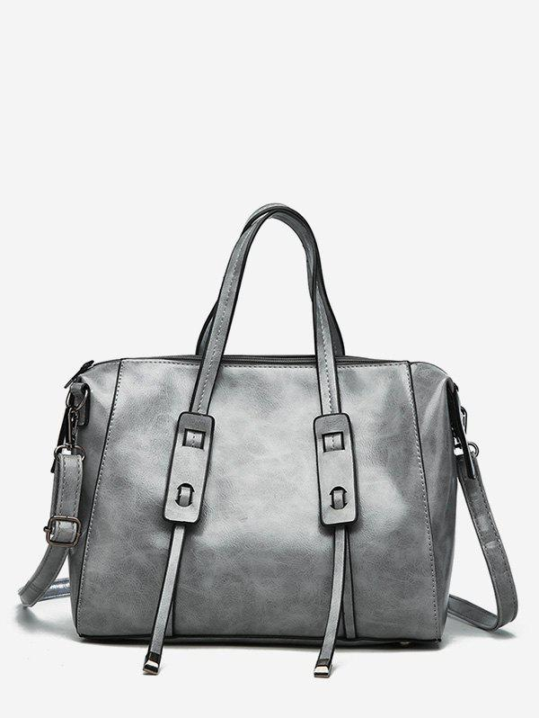 Affordable Faux Leather Minimalist Vintage Tote Bag with Strap