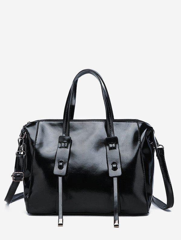 Latest Faux Leather Minimalist Vintage Tote Bag with Strap