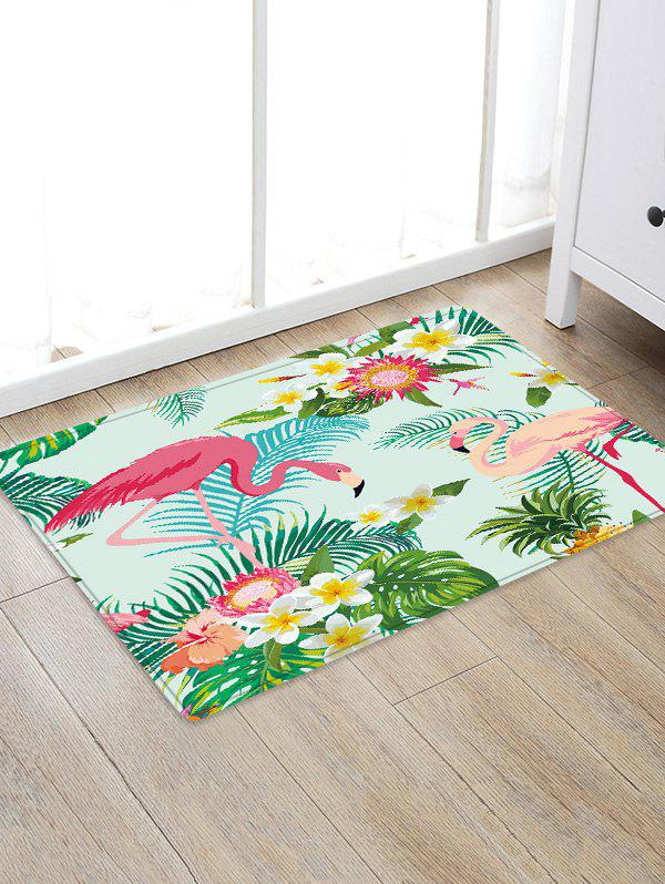 Sale Uhommi Flamingos Rainforest Plants Printed Non-slip Floor Mat
