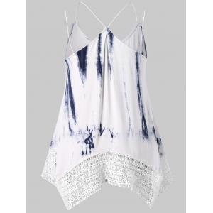 Plus Size Double Strap Tie Dye Tank Top -