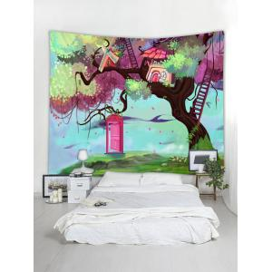 Dimension Door Tree Pattern Tapestry Wall Decoration -
