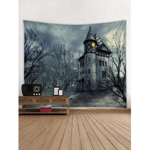 dark castle pattern tapestry wall decoration