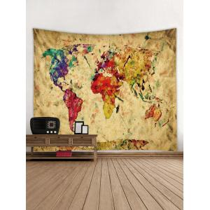 Paint Map Pattern Tapestry Wall Decoration -