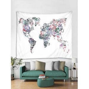 Seal Map Pattern Tapestry Wall Decoration -