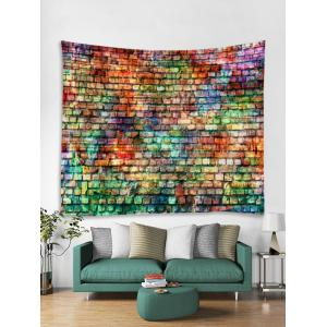 Colorful Brick Pattern Tapestry Wall Hanging Decor -