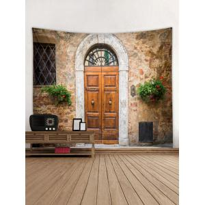 Door Pattern Tapestry Wall Hanging Decor -