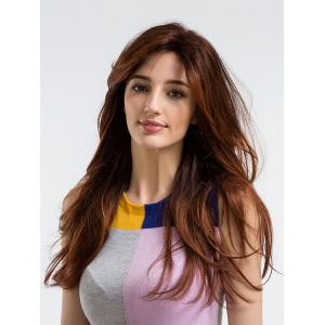 Long Side Bang Layered Straight Party Synthetic Wig -