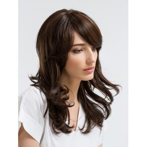 Long Side Bang Layered Slightly Curly Synthetic Wig -