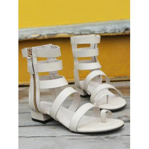 Strappy Low Heel Leisure Gladiator Thong Sandals -