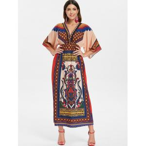 Bohème Plunge Maxi Dress -