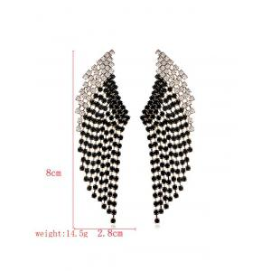 Geometric Rhinestone Decoration Drop Earrings -