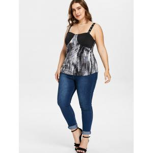 Plus Size Tie Dye Embellished Tank Top -