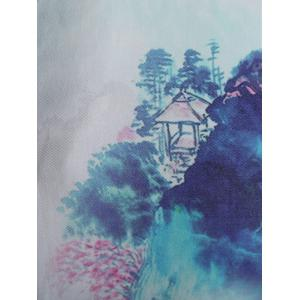 Slim Fit Chinese Mountain Painting Shirt -