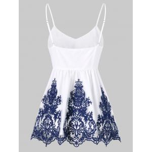 Embroidered Ruffle Tank Top -