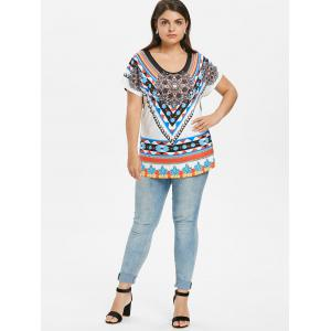 Plus Size Tribal Print T-shirt -