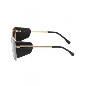 Crossbar Decorative Frog Mirror Oversized Sunglasses -
