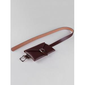 Забавная сумка Faux Leather Skinny Taist Belt -