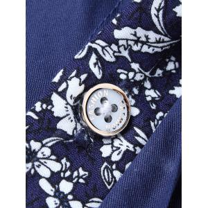 Flower Panel Button Up Shirt -