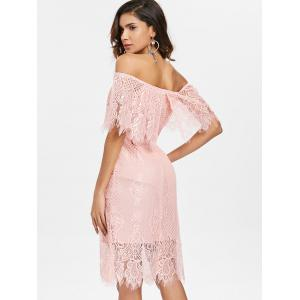 Off Shoulder Lace Party Dress -