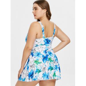 Plus Size One Piece Handpainted Floral Swimwear -
